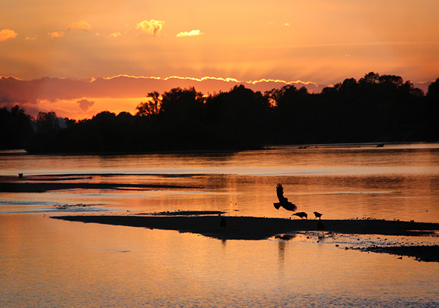 Sunset on the Loire, photo by Stuart Byrom