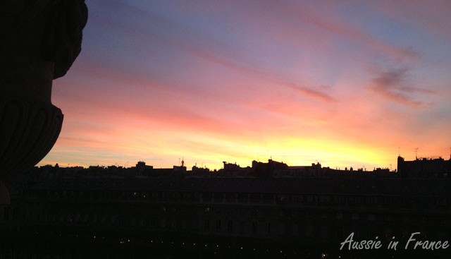 We had several spectacular sunsets during the week. This is taken from my baloncy.