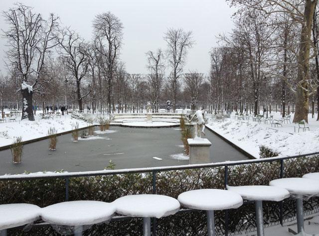 Pond behind Café Diane