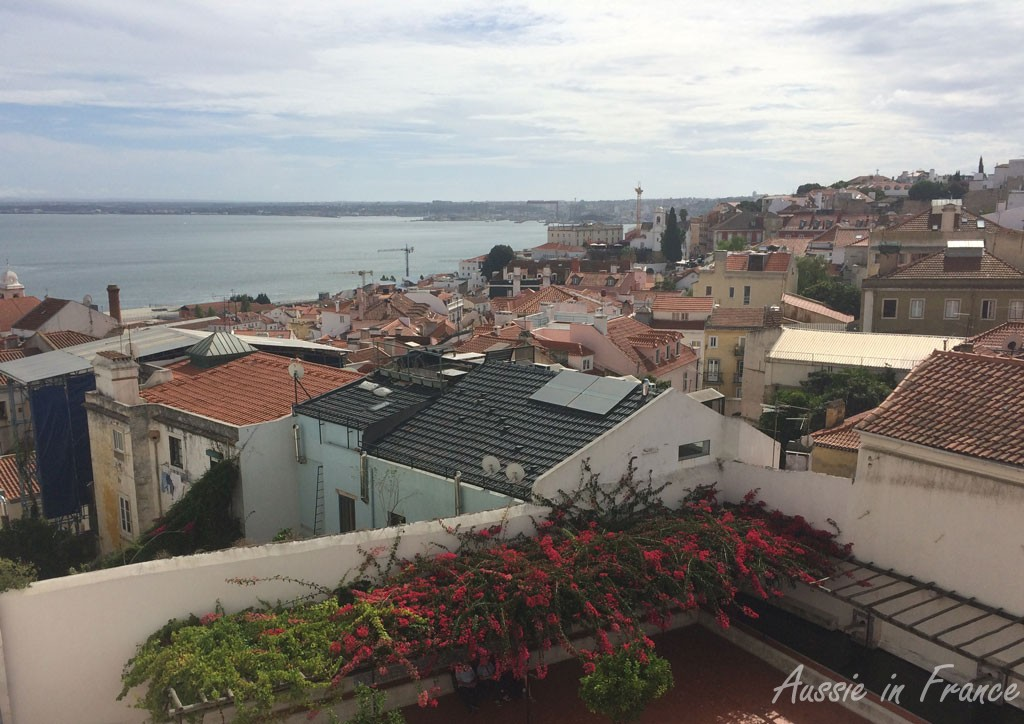 The view of the Tagus and rooftops of Lisbon from the Monastery