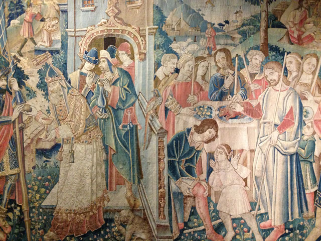 One of the castle's many tapestries