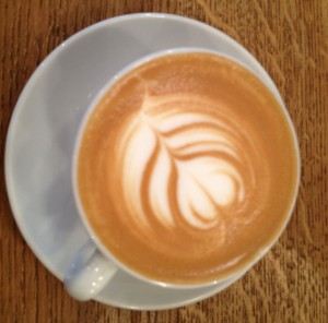 The real thing - Tom's latte at Telescope