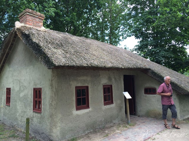 Large reed-thatched clay hut in the Moormuseum
