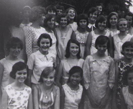 My thirteenth birthday party. I'm in the second row, second from the left.