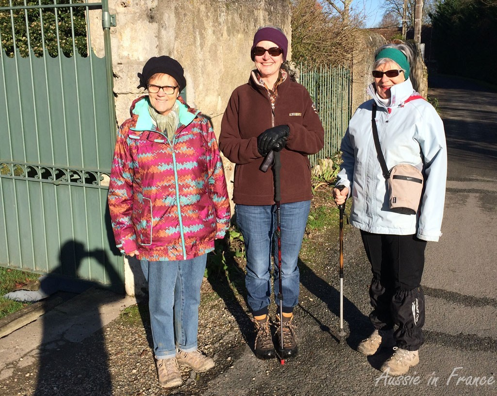 The three walkers (and the photographer) before we succombed to the flu