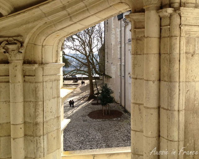 Taken through one of the openings in the Renaissance staircase in Blois Castle