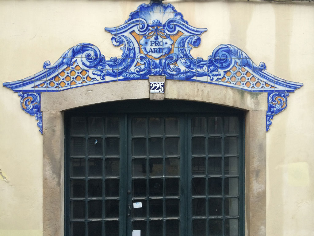 There are many lovely tiled entrances in Lisbon