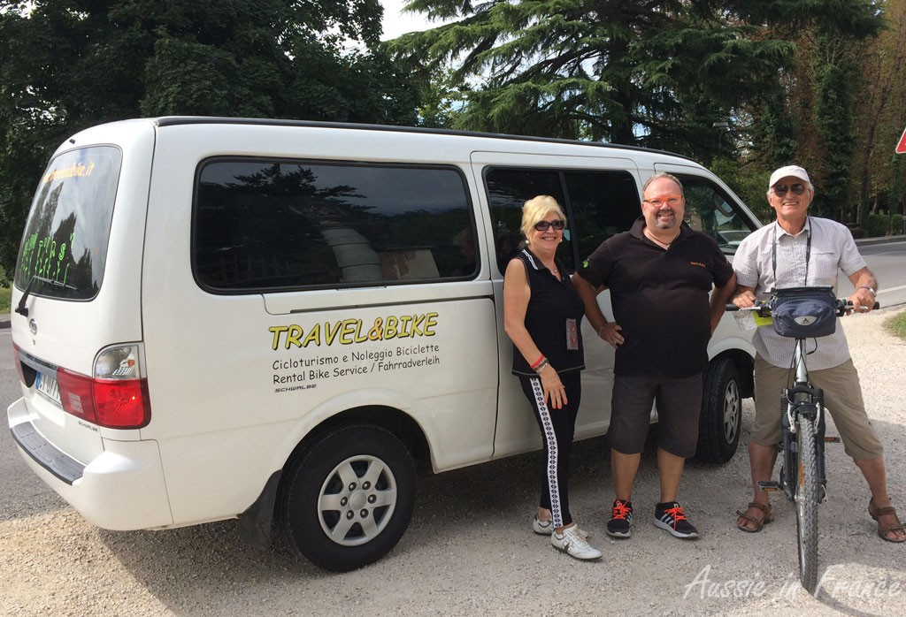 The Travel & Bike team with Jean Michel