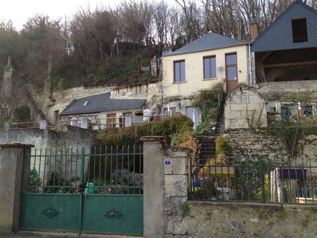 Troglodyte houses in Rochecorbon