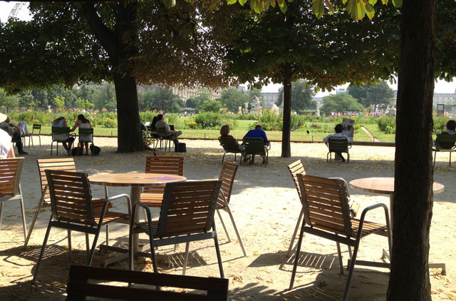 Lunch at Café Diane in the Tuileries Gardens