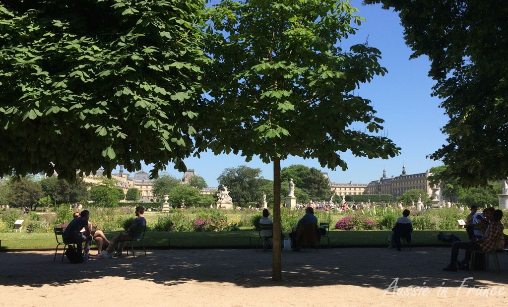 The view of the Louvre from Café Diane