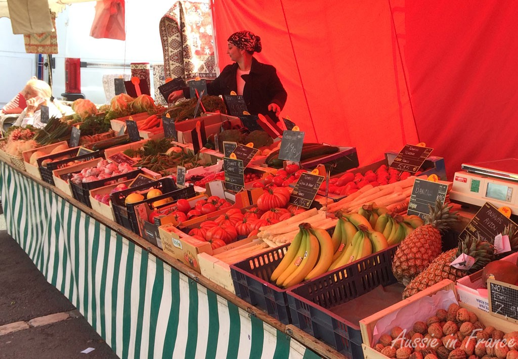 The Turkish fruit and vegetable stall