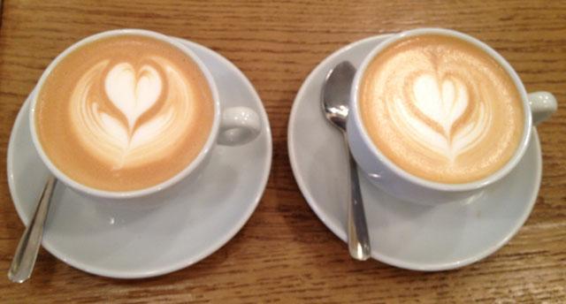 Tom's signature cappuccinos
