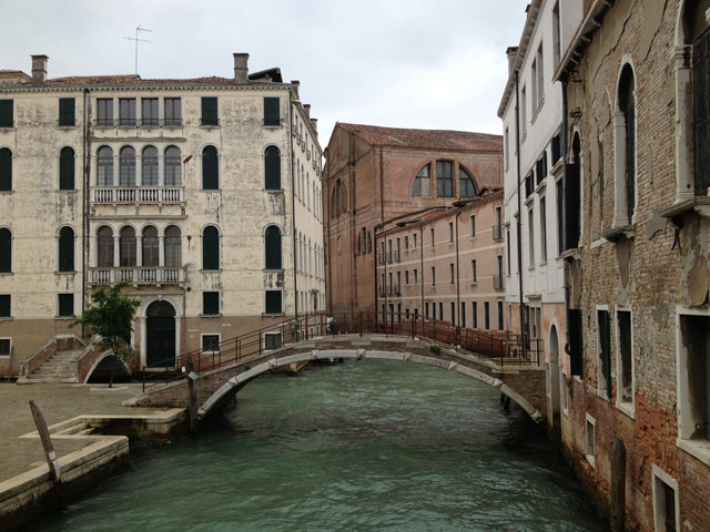 The arched bridges so typical of Venice