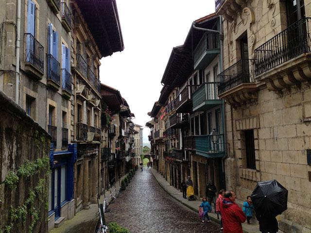 Main street of Hondarribia