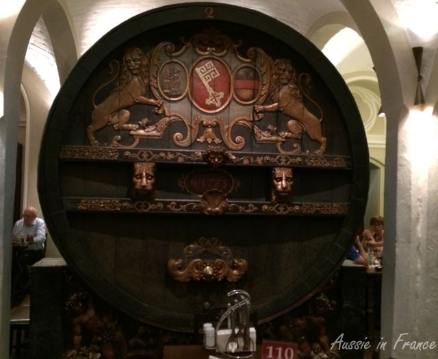 One of the beautiful vats in the Ratskeller in Bremen