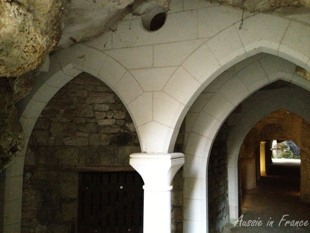 Vaulting at the entrance to the 11th century troglodyte shopping centre