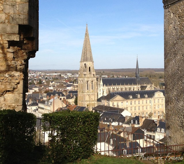 View of Trinity Church from the top of the hill overlooking Vendome