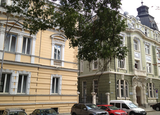 Viennese-style houses behind the National Art Gallery