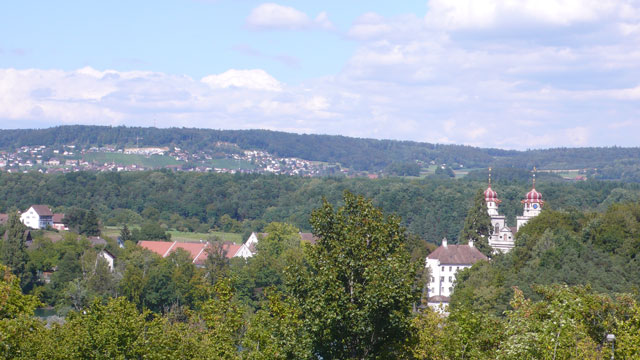 Klosterkirche in the distance