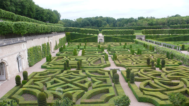 Another view of the gardens at Villandry