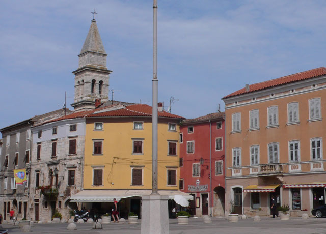 The main square of Vodnjan in Istria
