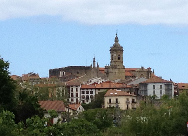 The walled city of Hondarribia