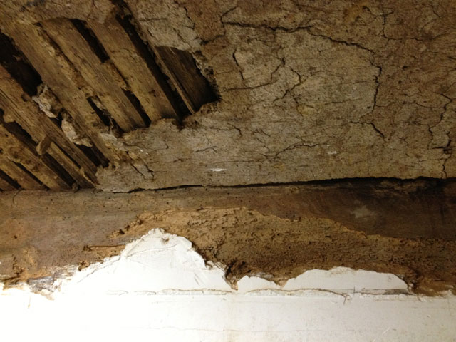 Traditional wattle and daub ceiling