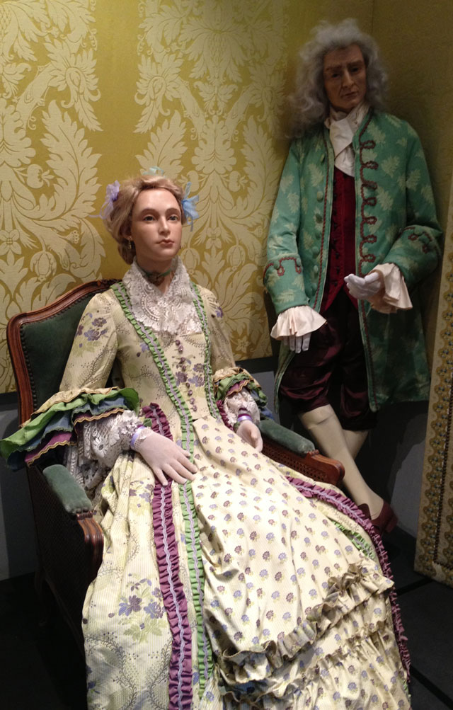 Diderot's salon at the Wax Museum