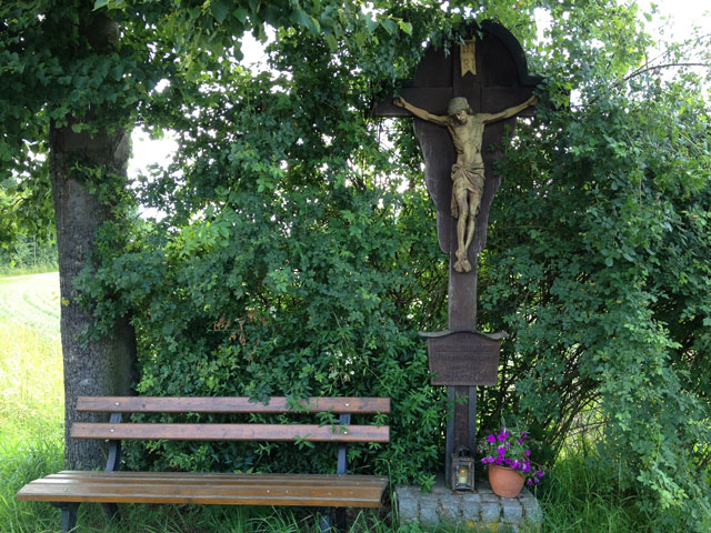 A wayside crucifix on the bike path