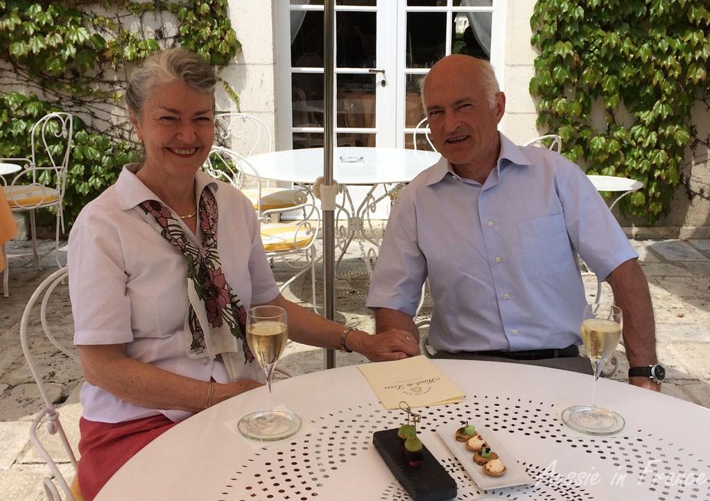 Celebrating our wedding anniversary at Hauts de Loire restaurant