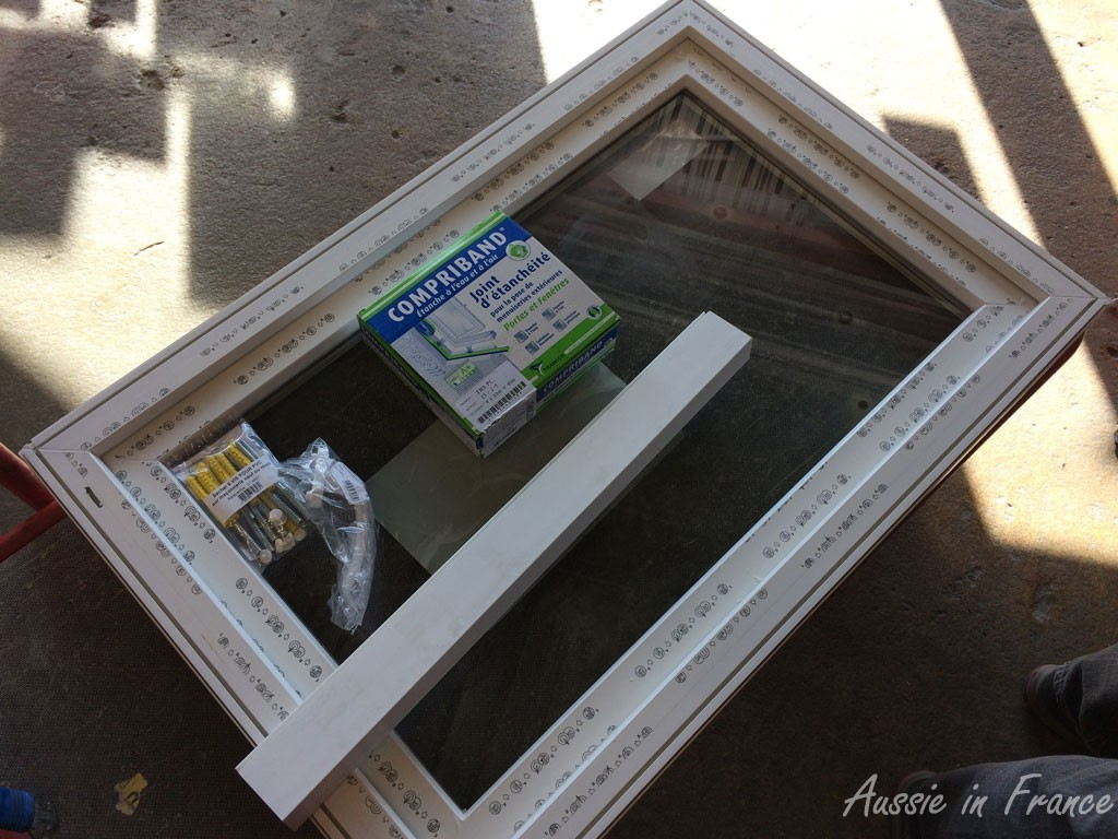 Our standard white PVC tilt and turn window