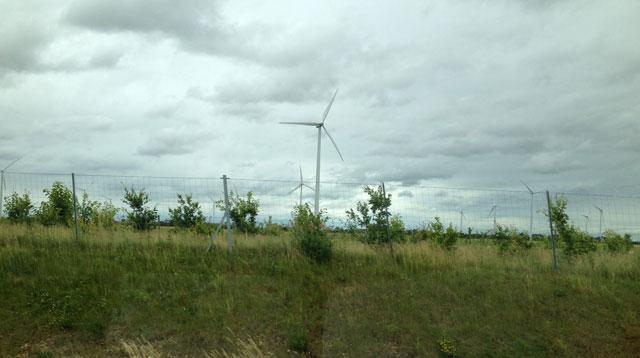 Wind turbines in Slovkia