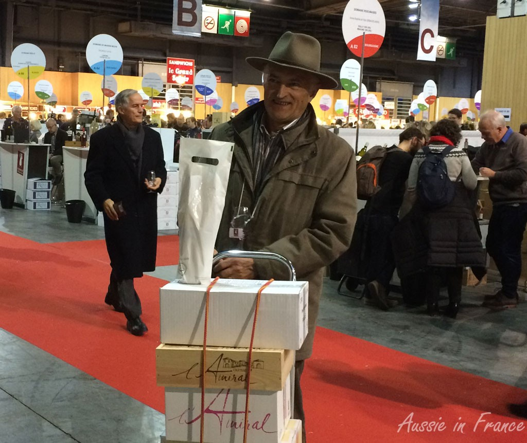 Jean Michel at the end of the wine fair