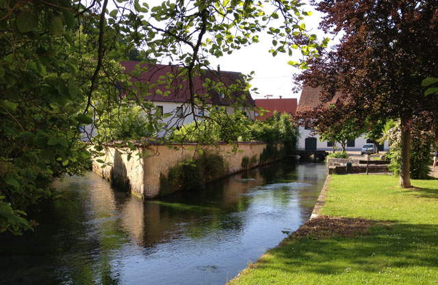 Little stream running through Zwiefalden