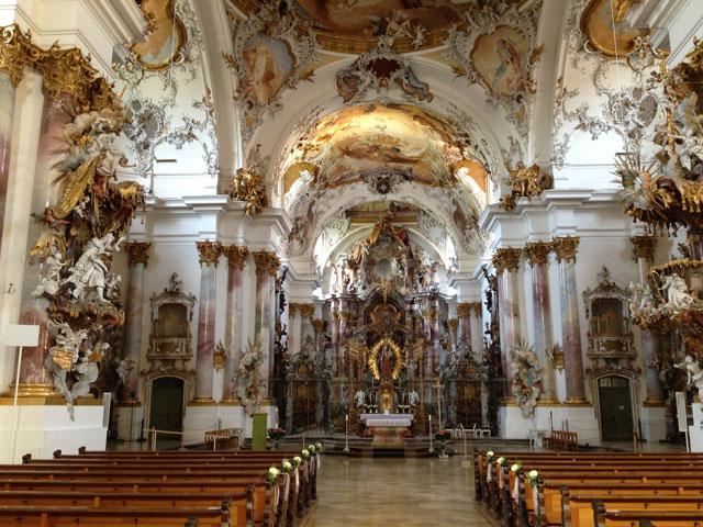 Baroque interior of Zwiefalden cathedral