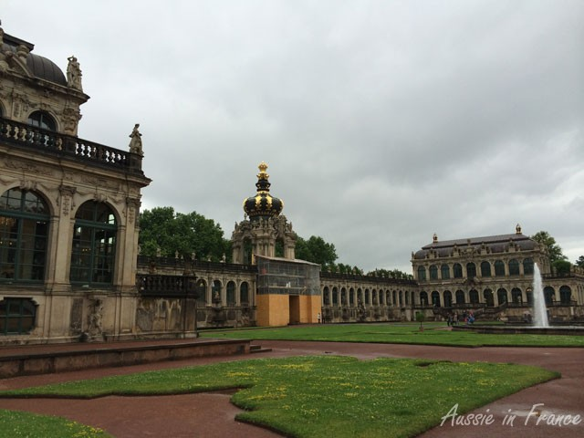 Zwinger, a German Baroque palace also containing several museums